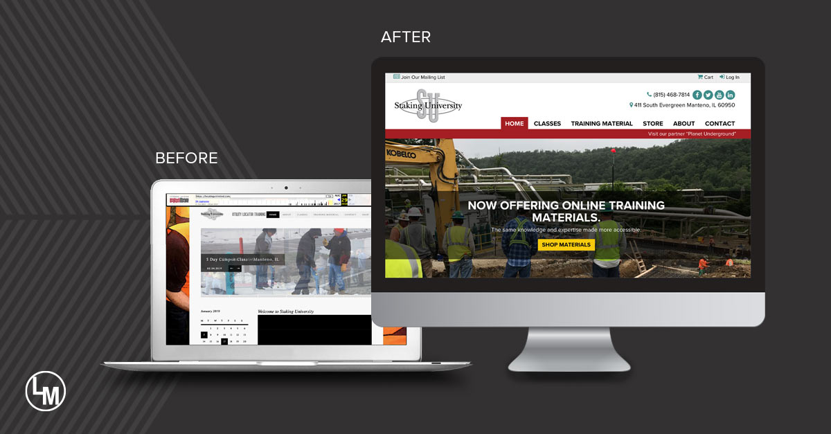 Staking University Before and After Completed Site Graphics