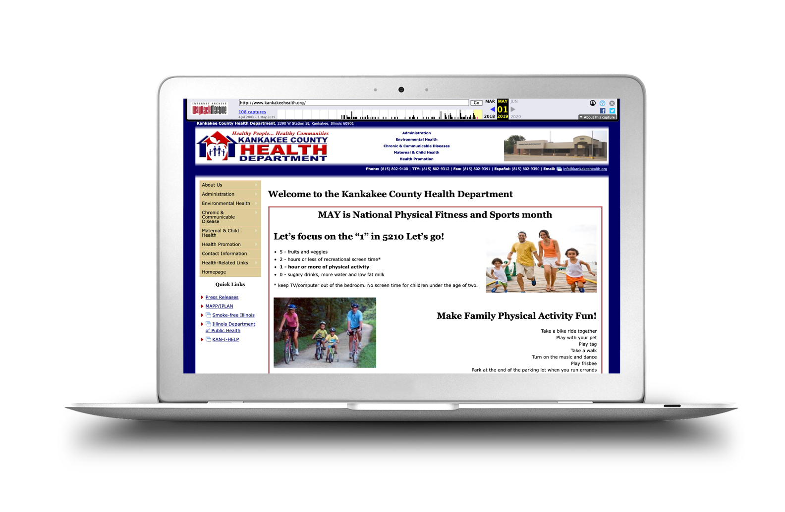 kankakee county health departments new website by linkpoint media before after